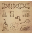 Science doodle icons vector