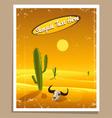 Desert retro poster vector