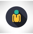 Man icon in modern flat design person silhouette vector