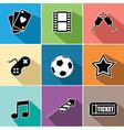 Entertainment icons set flat design vector