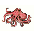 Graphic artistic stylized image of octopus vector
