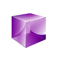 Box violet glossy vector
