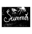 Chalk texture word summer vector