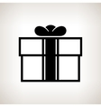 Silhouette gift box on a light background vector