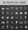 Light education icon set vector