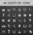 Light education icon set vector