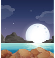 Moon landscape vector
