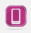 Smartphone color square icon vector