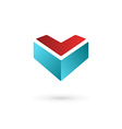 Business design template logo icon with letter v vector
