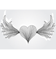 Abstract flying heart vector