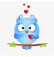 Cute owl love vector