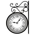 Street clock vector