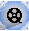 Film icon flat modern design on geometric abstract vector