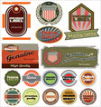 Premium quality retro labels vector
