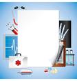 Paper medicine vector