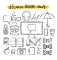 Hipster design doodle elements vector