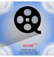 Film icon flat modern design on geometric abstract vector