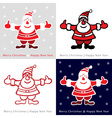 Set of colorful santa claus cards for your design vector