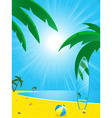 Summer beach and surf board vector