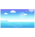 Horizon sea view background vector