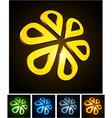 3d flower emblems vector