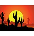 Cactus background vector