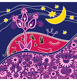 Hand draw ornate good night abstract composition vector