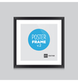 Poster frame black square vector