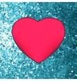 Heart on glitter light valentines day eps 8 vector
