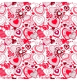 Background made of ornate hearts vector