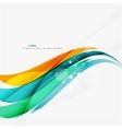 Blue orange red swirl wave lines light design vector
