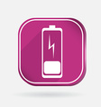 Discharged battery color square icon vector