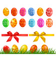 Set with eggs vector