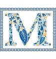 Blue letter m vector