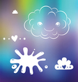 Cute designs on blurred background vector