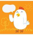 Chicken balloon talk vector