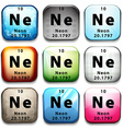 The chemical element neon vector