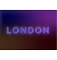 London - neon sign vector