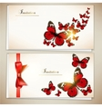 Collection of gift cards and invitations with vector