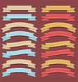 Retro ribbon set vector