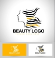 Beauty female face logo vector
