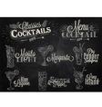 Cocktails chalk vector