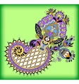 Original digital draw line art ornate flower vector