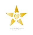 Valentines day star vector
