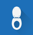 Wc toilet icon vector