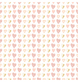 Seamless pattern of hand drawn hearts vector