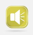 Loudspeaker color square icon vector