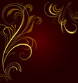 Abstract background with golden ornament vector