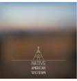 Blurred foggy landscape background vector