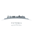 Victoria british columbia canada city skyline silh vector